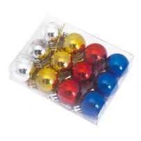 12 Mini Christmas Baubles